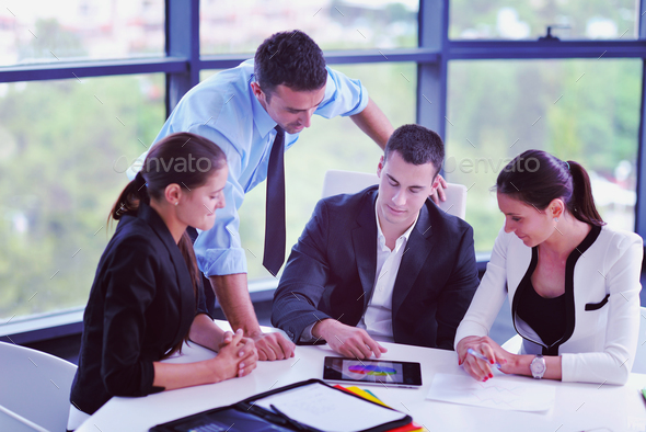 business people group in a meeting at office - Stock Photo - Images