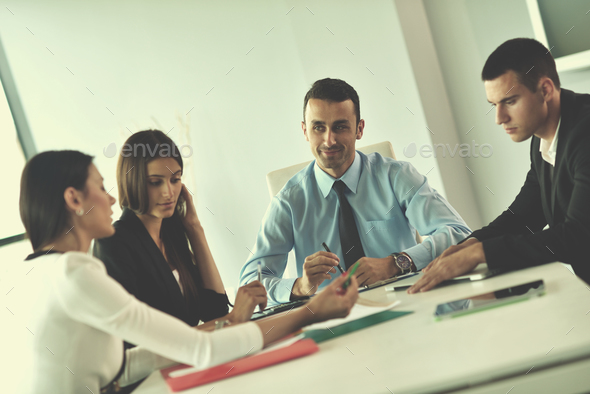 business people in a meeting at office - Stock Photo - Images