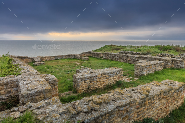 the ruins of the Argamum fortress - Stock Photo - Images
