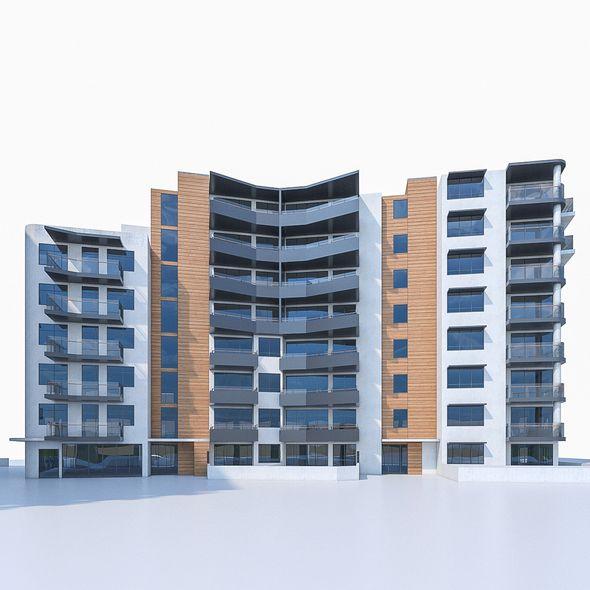 Apartment Buildings 04 - 3DOcean Item for Sale