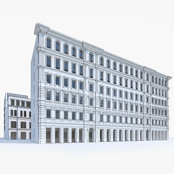 Apartment Buildings 05 - 3DOcean Item for Sale
