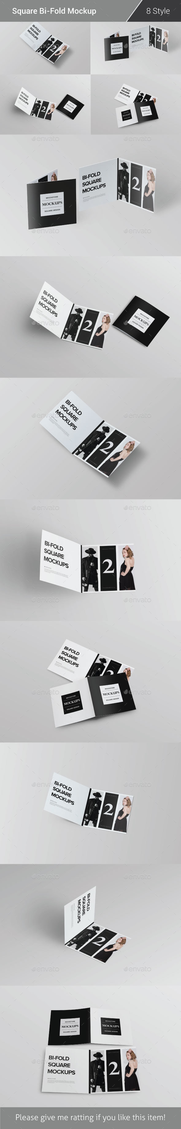 Bi-Fold Brochure Mock-Up Pack - Brochures Print