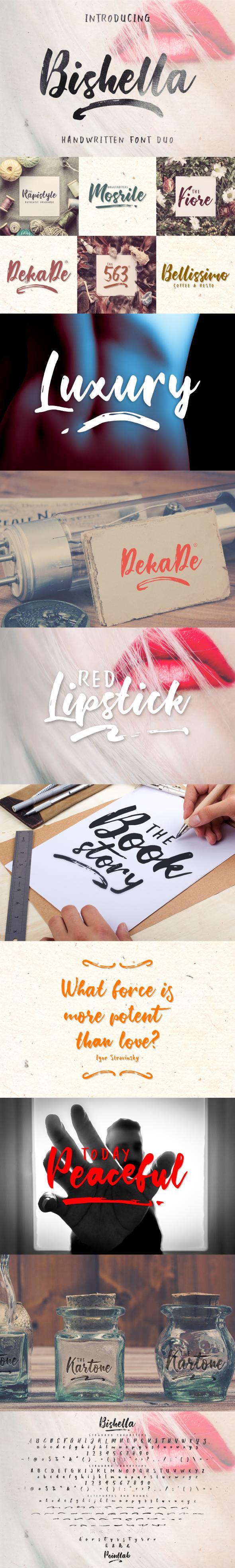 Bishella Font Duo - Calligraphy Script