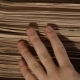 Hand with a Bunch of Newspaper - VideoHive Item for Sale