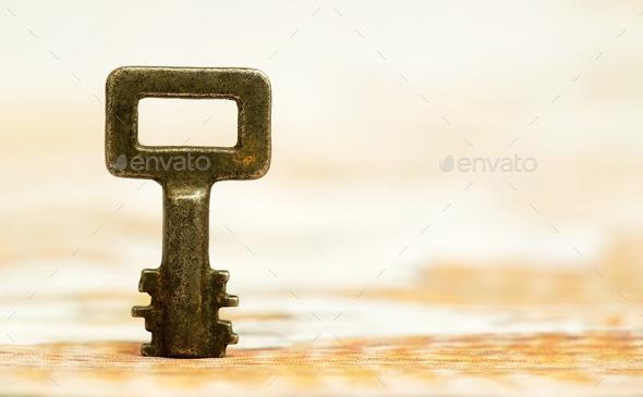 Life coaching, solution key - Stock Photo - Images