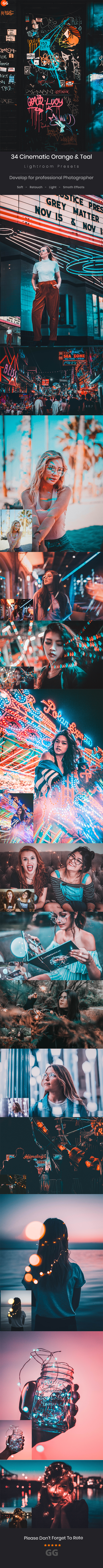34 Cinematic Orange & Teal Look Lightroom Preset V3 - Cinematic Lightroom Presets