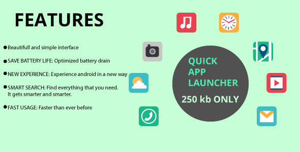 Quick App Launcher - Android Studio Project - CodeCanyon Item for Sale