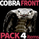 Cobra Front View Pack 4 - VideoHive Item for Sale