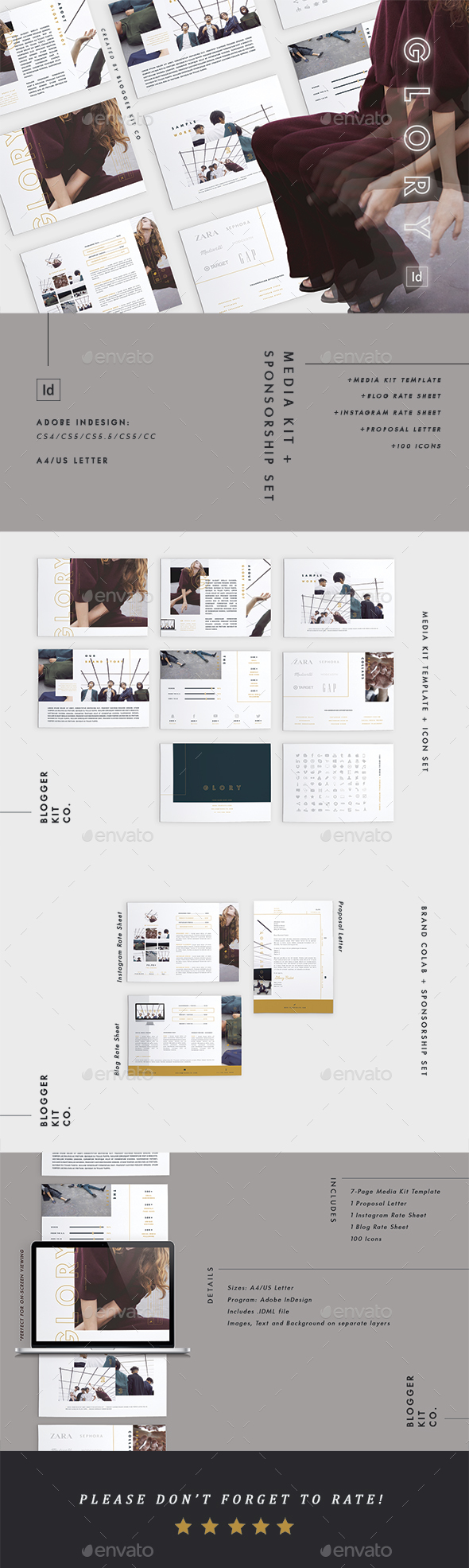 Media Kit Template + Sponsorship Set - Resumes Stationery