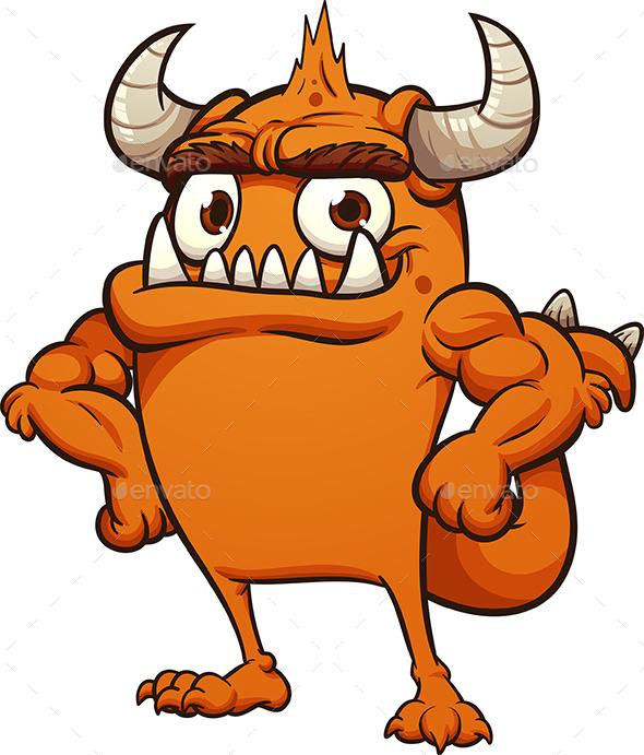 Proud Orange Monster - Monsters Characters