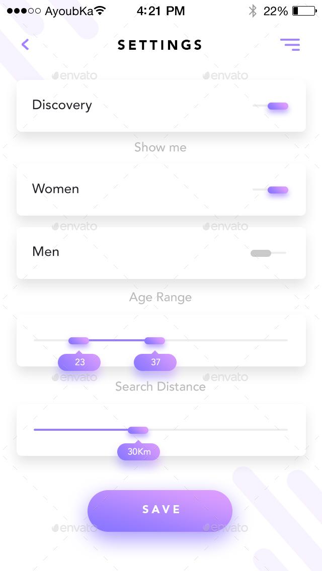Mine - Mobile App UI Kit Design