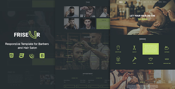 FRISEUR - Responsive Template for Barbers and Hair Salon - Health & Beauty Retail