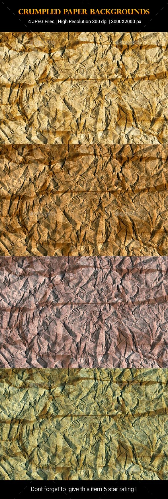 Crumpled Paper Backgrounds - Backgrounds Graphics