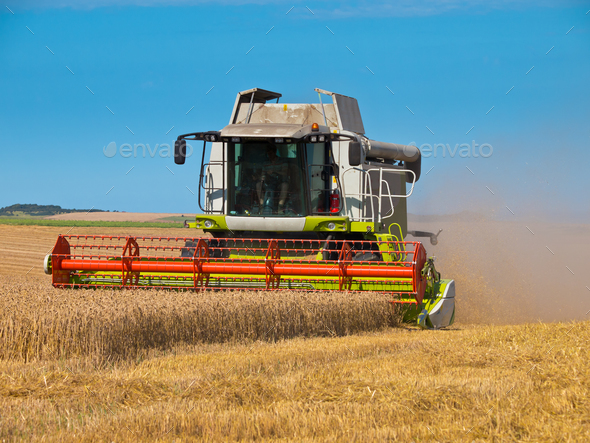 combine harvester - Stock Photo - Images