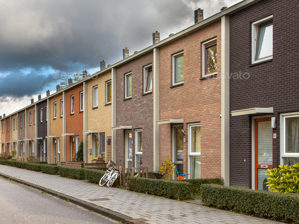 European Style Terrace Houses - Stock Photo - Images