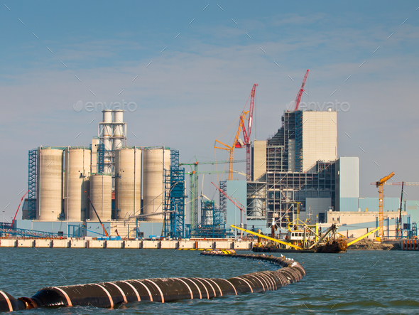 New Coal Power Plant Being Built - Stock Photo - Images