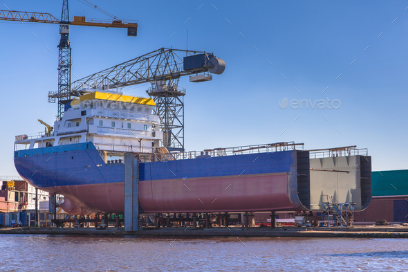 Ship Construction - Stock Photo - Images