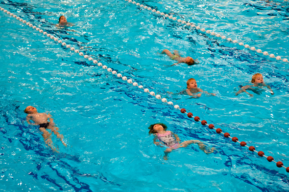 Swim Class Kids - Stock Photo - Images
