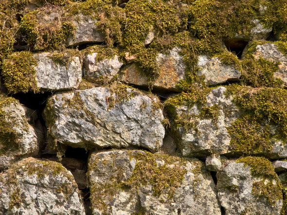 Old Stone Wall Background - Stock Photo - Images