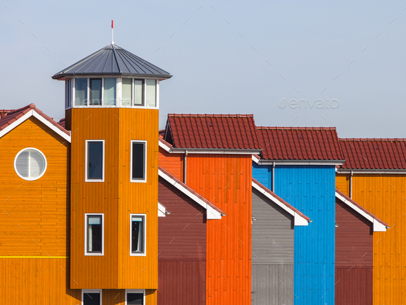 Detail of Colorful Houses - Stock Photo - Images
