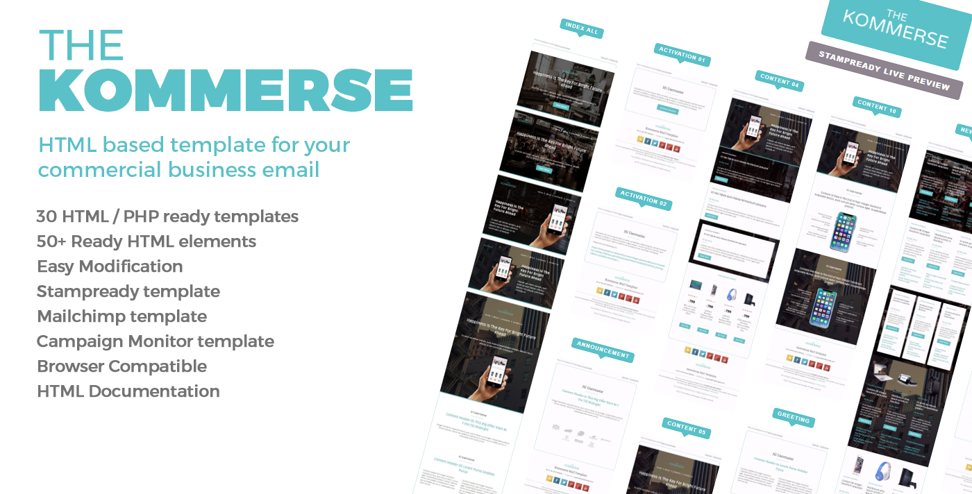 The Kommerse Business Email Template By Bnrcreativelab Themeforest