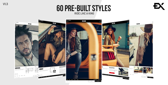 The One || Creative One Page Photography / Portfolio Template - Portfolio Creative