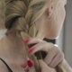 Beautiful Girl Ties Her Hair in Pigtails - VideoHive Item for Sale