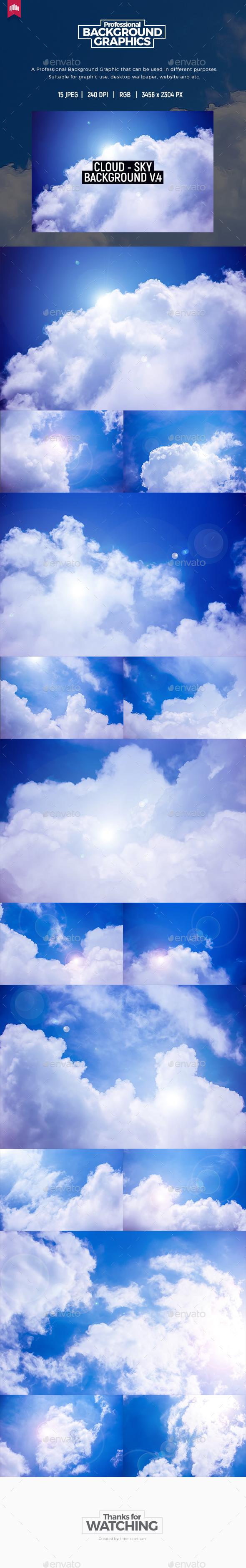 Cloud - Sky Background V.4 - Nature Backgrounds