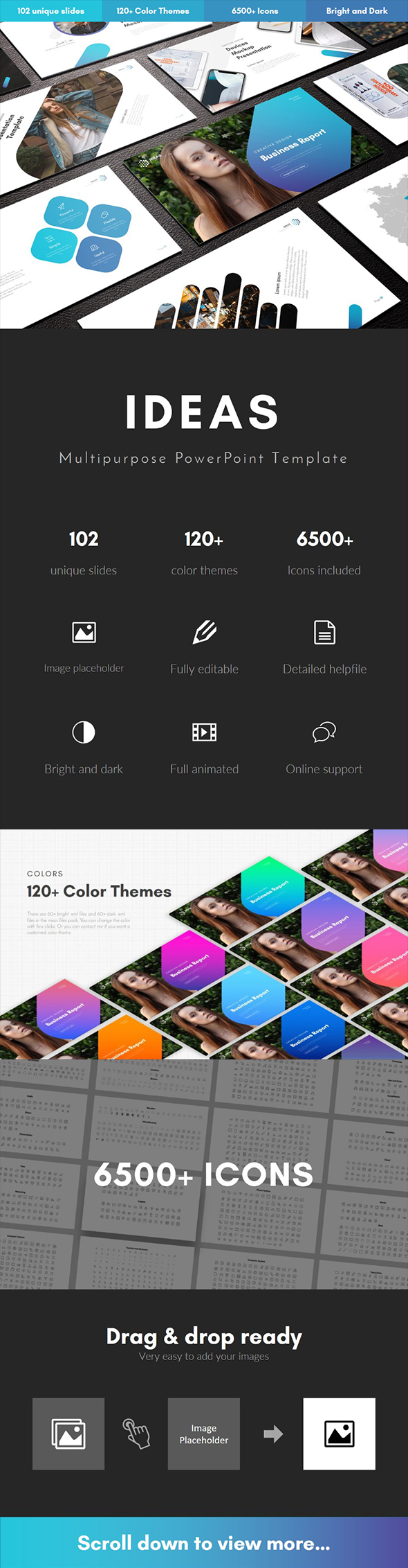 Ideas Multipurpose PowerPoint Template - Business PowerPoint Templates