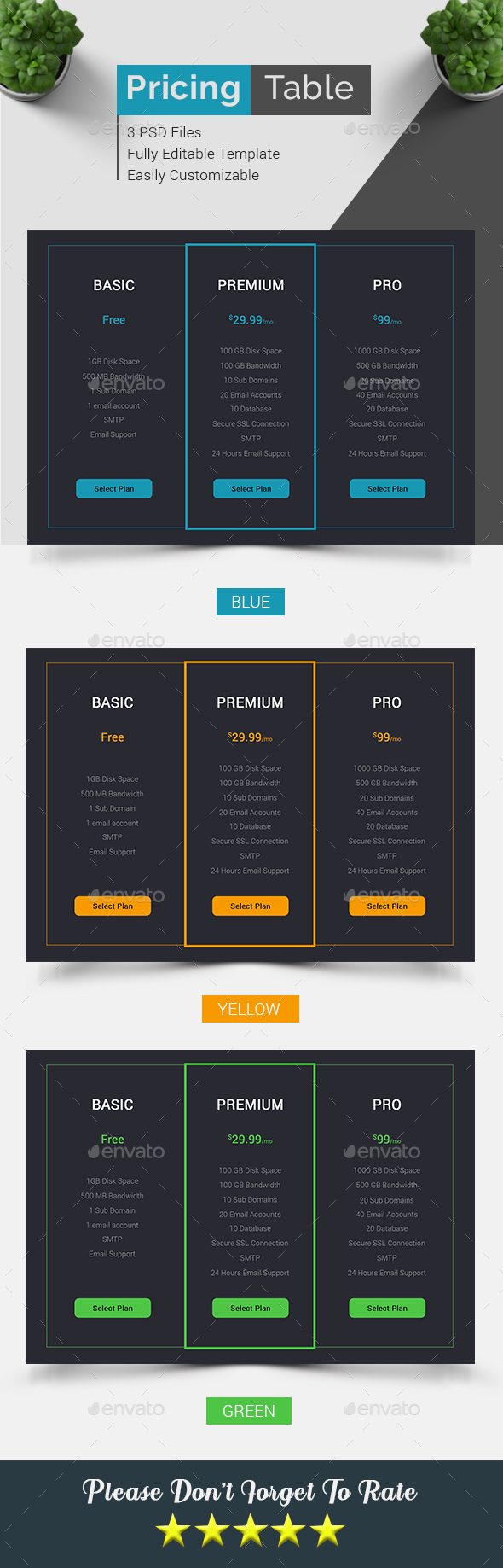 Pricing Table - Tables Web Elements