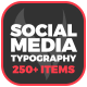 Social Media Typography - A Designs Package - VideoHive Item for Sale