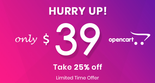 25% off on OpenCart Theme