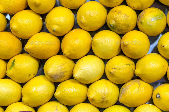 Fresh lemons for sale - Stock Photo - Images