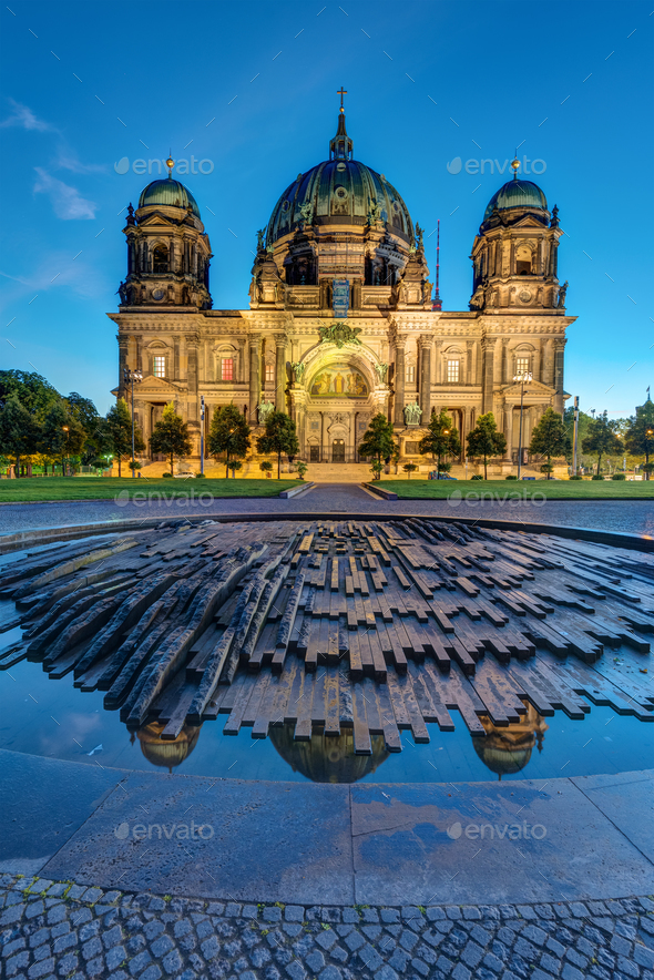 The Dom in Berlin before sunrise - Stock Photo - Images