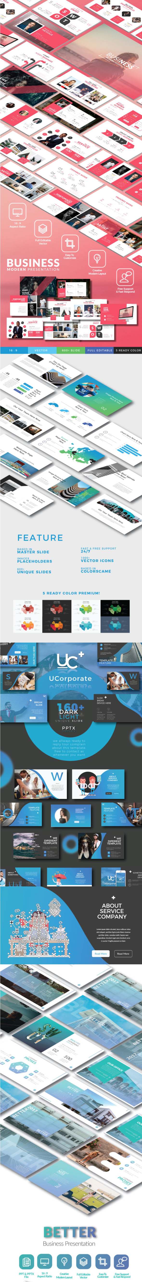 4 in 1 Bundle Powerpoint Template. - Business PowerPoint Templates