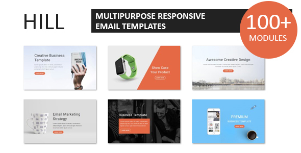 Hill - Multipurpose Responsive Email Template With Online StampReady Builder Access