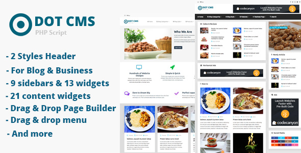DOT Micro CMS - PHP Script - CodeCanyon Item for Sale