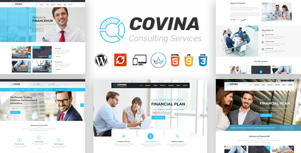 Covina - Business Consulting and Professional Services WordPress Theme - Business Corporate