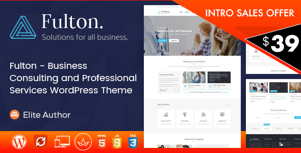 Fulton - Consulting Business and Multi-Purpose WordPress Theme - Business Corporate