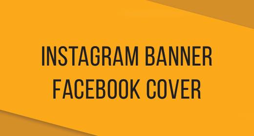 Instagram Banner + Facebook Cover