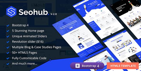 SEOhub - SEO, Marketing, Social Media, Multipurpose HTML5 Template - Marketing Corporate