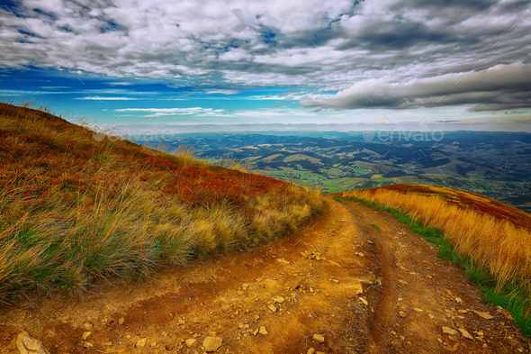 Country road in the mountains - Stock Photo - Images