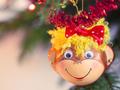Smiling monkey christmas decoration - PhotoDune Item for Sale