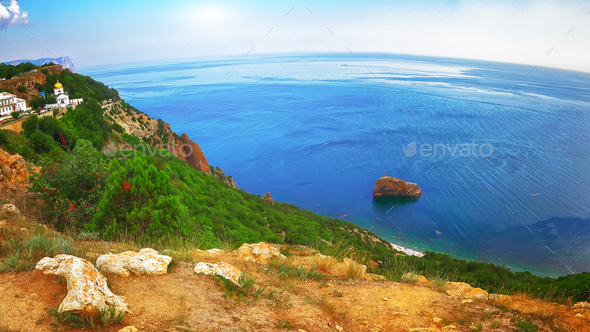 Fiolent , Crimea - sea landscape - Stock Photo - Images