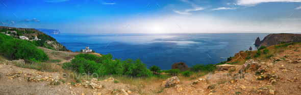 Fiolent , Crimea - sea landscape - Stock Photo - Images