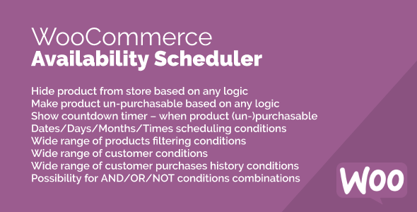 Availability Scheduler for WooCommerce Free Download | Nulled
