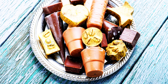 Chocolate delicious candy - Stock Photo - Images