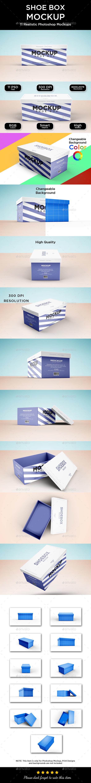 Shoe Box Mockup - Packaging Product Mock-Ups