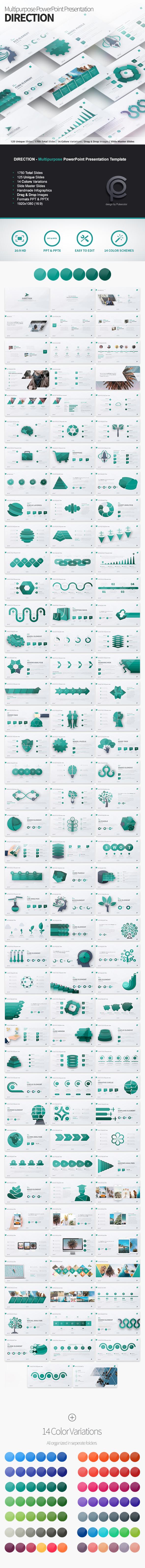 DIRECTION - Multipurpose PowerPoint Presentation - Business PowerPoint Templates