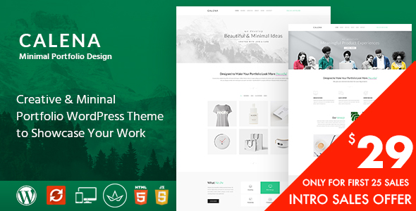 Image of Calena – Minimal Multi-Purpose Portfolio WordPress Theme